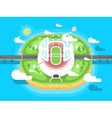 Stadium flat design vector image