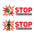 Stop terrorism with the dynamite and a bomber