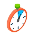 Stopwatch icon isometric 3d style vector image vector image
