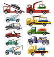 tow truck towing car trucking vehicle vector image