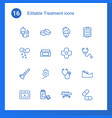 treatment icons vector image vector image