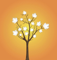 Tree and leaves from white paper vector image vector image