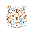 tribal tiger vector image