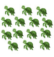 turtle pattern background cute cartoon vector image vector image