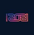 welcome 2021 modern cover calendar vector image vector image