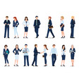group of business man and business woman isolated vector image