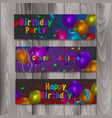happy birthday banners set of banners with vector image