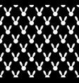 white rabbit seamless on black background vector image