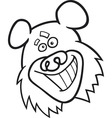 funny bear for coloring book vector image