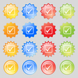 A check mark icon sign Big set of 16 colorful vector image vector image