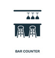 bar counter icon line style icon design ui vector image