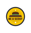 be a scout hat logo flat style vector image