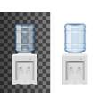 bottled water dispenser or cooler realistic mockup vector image vector image