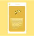 bun mobile vertical banner design design vector image vector image