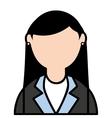 businesswoman elegant isolated icon vector image vector image