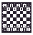 chess on game board ready for new vector image vector image