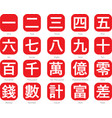 chinese word logo-5 vector image vector image