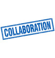 collaboration square stamp vector image vector image