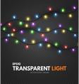 colorful light garland on transparent background vector image