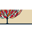 Colorful tree nature art for banner vector image vector image