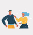 couple people quarrel and swear vector image