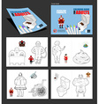 Crazy Coloring book for adults for coloring in li vector image vector image