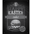 easter cake textured vector image vector image