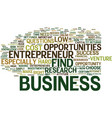 entrepreneur opportunities text background word vector image vector image