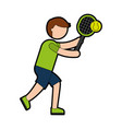 ethlete practicing tennis avatar vector image vector image