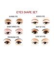 eyes shape set vector image vector image