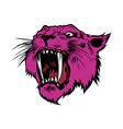 face of a drawn pink panther vector image vector image