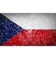 Flags Czech Republic with broken glass texture vector image
