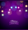 glowing colorful christmas lights for xmas holiday vector image