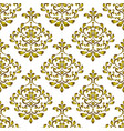 gold decorative background vector image vector image