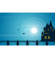 halloween with dark castle collection background vector image vector image
