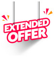 hanging tag extended offer modern web banner vector image vector image