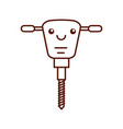 hydraulic hammer kawaii character vector image vector image