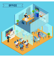 Isometric Office Interior Corporate Business vector image vector image