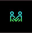 letter m human family creative modern logo vector image vector image