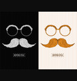 man glass and mustache image vector image