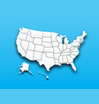 map united state america vector image