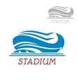 Modern sport stadium or arena icon vector image