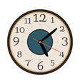 modern wall clock isolated on white vector image vector image
