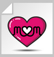 mothers day icons 6 vector image vector image