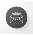 open envelope icon symbol premium quality vector image