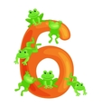 ordinal numbers six for teaching children counting vector image vector image