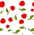 Pattern Silhouette Cherry vector image vector image