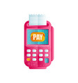 pos terminal confirming the payment machine for vector image vector image