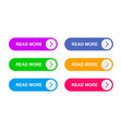 ready web buttons for web design vector image vector image