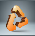 recycle 3d icon environmentally friendly product vector image